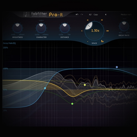 Creating a Master Mix Reverb screen shows the fabfilter pro r reverb plugin