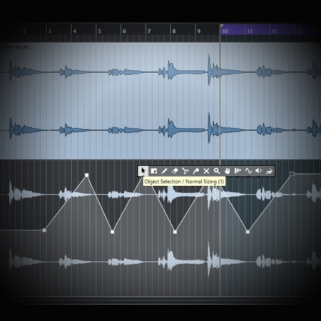 Realtime Automation screen shows cubase's automation lanes