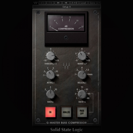 Compression - What is it and how do you use it screen shows the ssl g compressor plugin