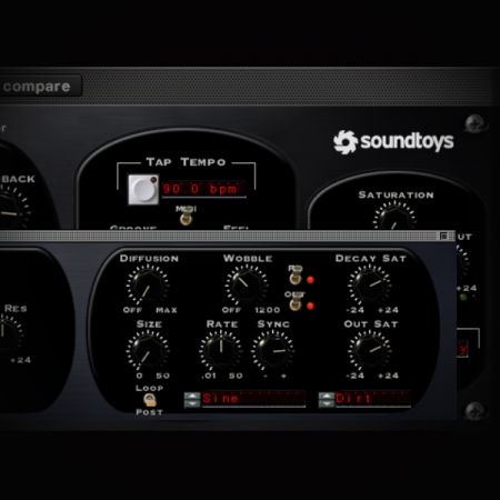Using a Delay to create a Crackle Effect screen shows soundtoys echoboy delay plugin