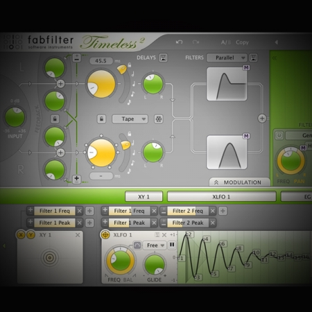 Using Delay to Manipulate Stereo Width screen shows fabfilter's timeless delay plugin