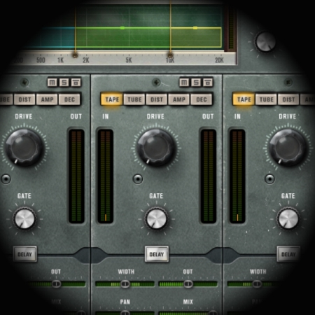 Creating a beat and an effect from a drum loop screen shows cubase's quadrafuzz distortion plugin
