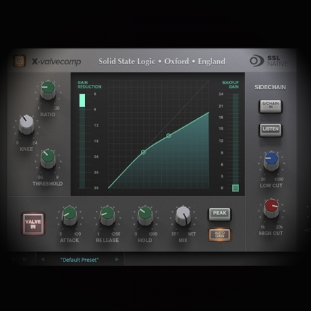 Compression - Science and Application screen shows the ssl bus compressor plugin