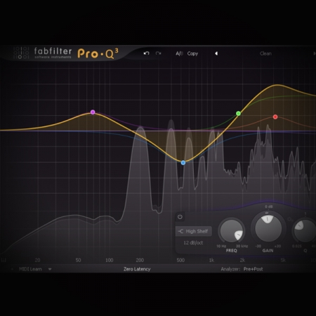 Working the Air Band with Equalisation screen shows the fabfilter pro q2 eq plugin