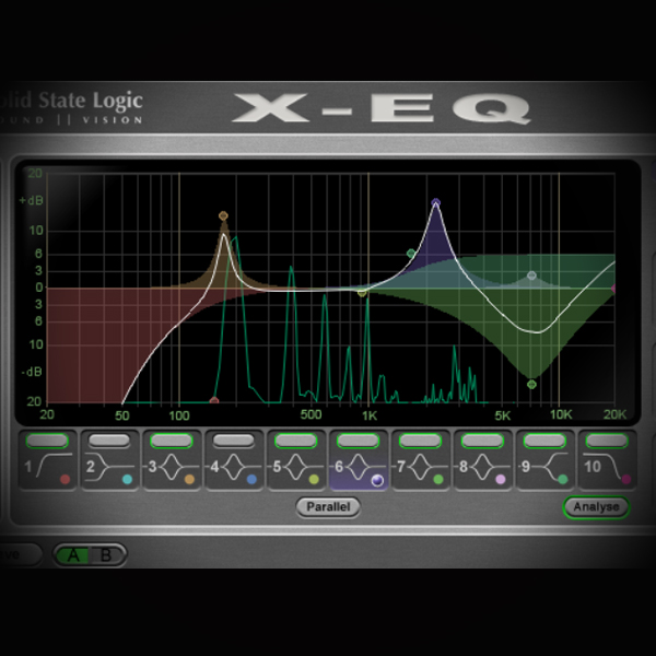 Eq Filters and Slopes/Responses screen shows the sll x equaliser plugin