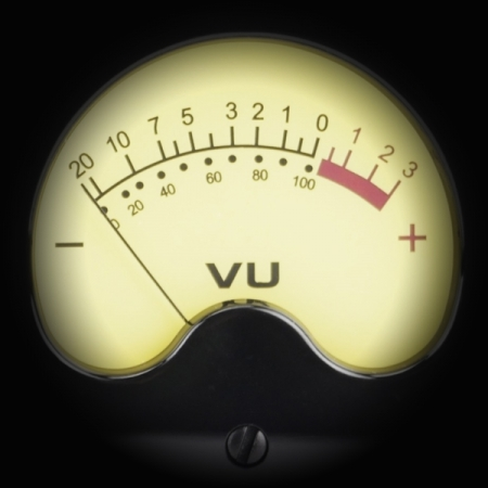 Gain Staging using VU Meters screen shows a vintage vu meter