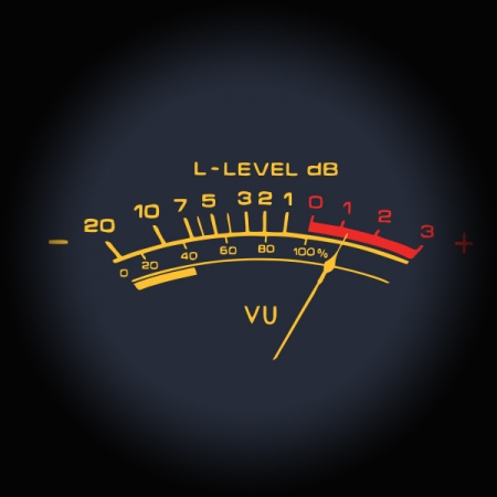metering explained screen showing an old vu meter