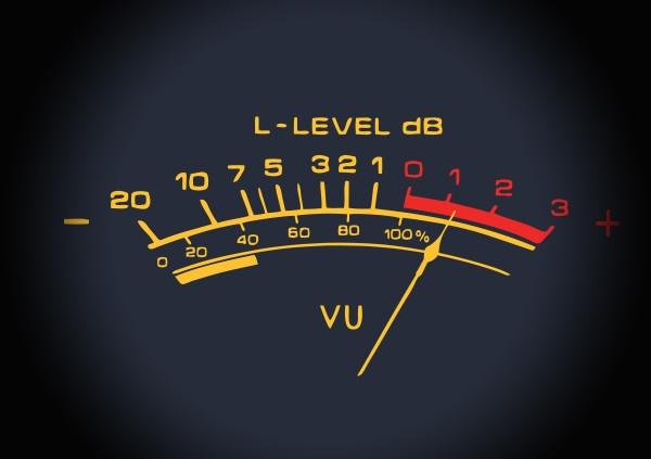 metering explained screen showing an old vu meter