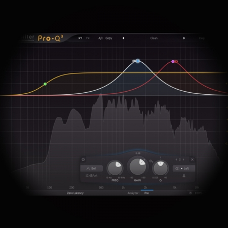 Mastering EQ - Air Band Processing screen shows the fabfilter pro q2 equaliser plugin