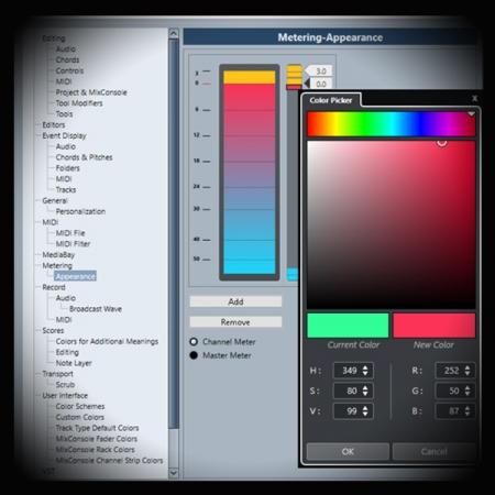 cubase meter screen showing the cubase meter