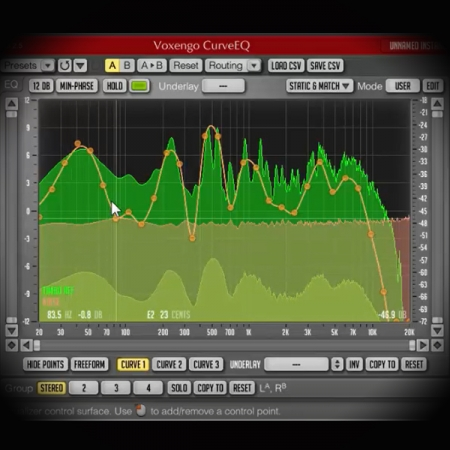 DIY Mastering using Pink Noise screen shows the voxengo span frequency analyser plugin