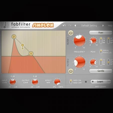 Using Modulation with a 2 Band Filter - FabFilter Simplon screen shows the fabfilter simplon plugin