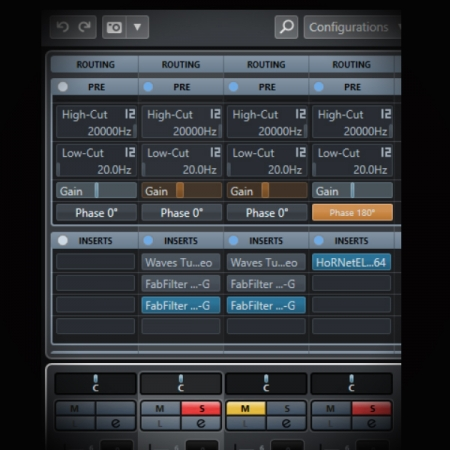 Using Phase Cancellation in Sound Design screen shows the cubase mixer page where the phase button is