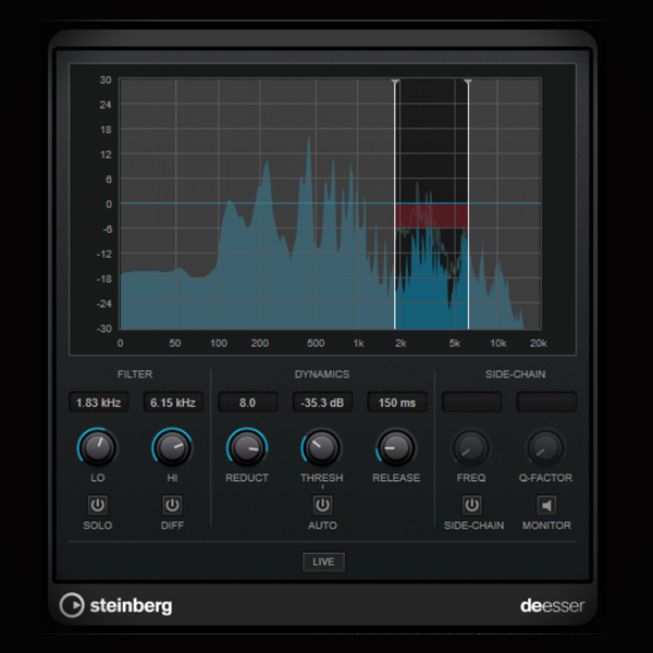 Creating a Smooth and Liquid Reverb screen shows the cubase de esser plugin