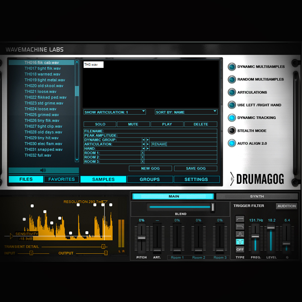 Extracting Drum Sounds from a Beat using Drumagog screen shows drumagog plugin