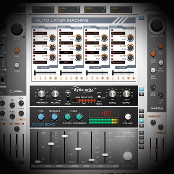 Adding Sheen and Bounce to Roland TR 808 Kick drums screen shows softube's heartbeat drum vsti