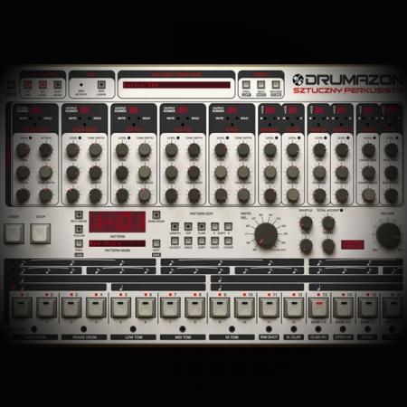 Compressing Roland TR 909 Kick Drums screen shows the d16 drumazon drum machine plugin