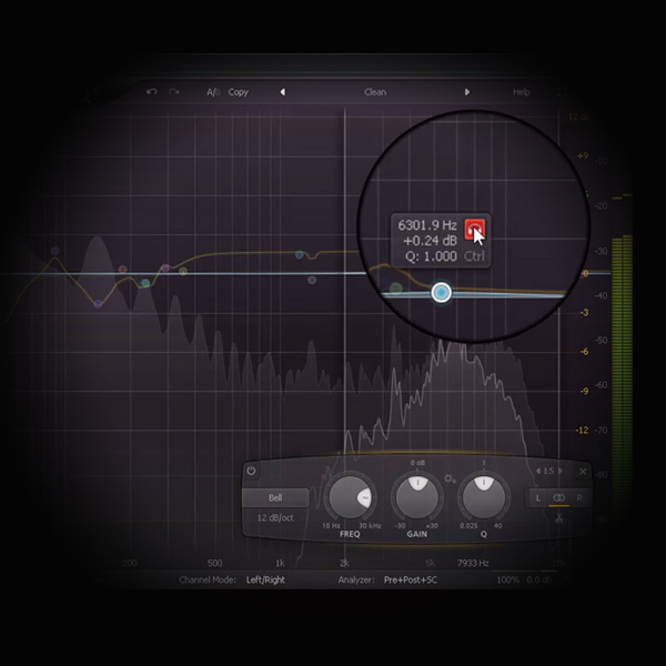 DIY Mastering using Commercial Mix Profiles screen shos fabfilter's pro q2 equaliser