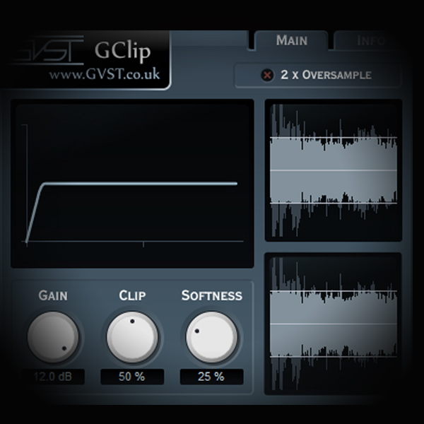 Stealing Transients - Maximising Loudness screen shows the gclip clipper plugin