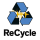 screen showing the recycle logo