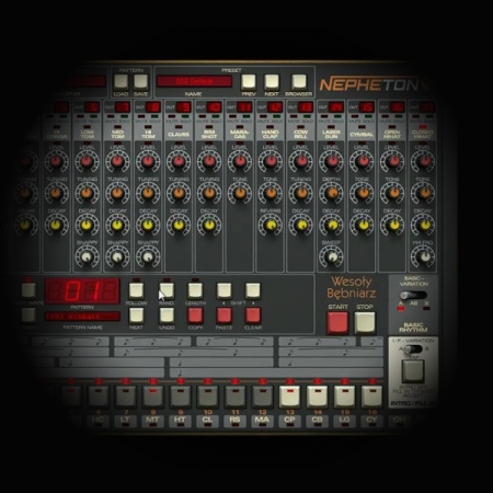 Roland TR 808 Kick Drum Bounce Processing screen shows d16's nepheton plugin