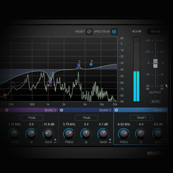 Using EQ to Clean and Enrich Rap Vocals screen shows cubase's stock eq plugin