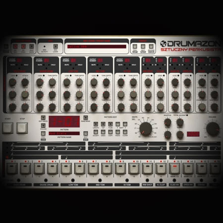 low end screen showing the famous 909 beat machine