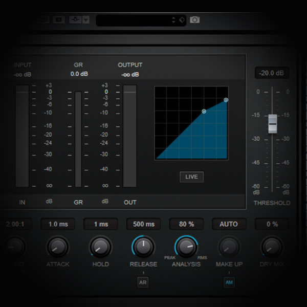 Using Compression in Series to Process Lead Vocals is a deep tutorial on the workings of a compressor, and in this case two compressors in series, and how best to use it for various vocal processing tasks screen shows the cubase stock compressor plugin
