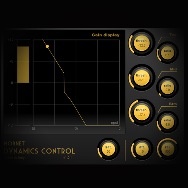 Downward and Upward Compression for Rap Vocals screen shows hornet's dynamic plugin