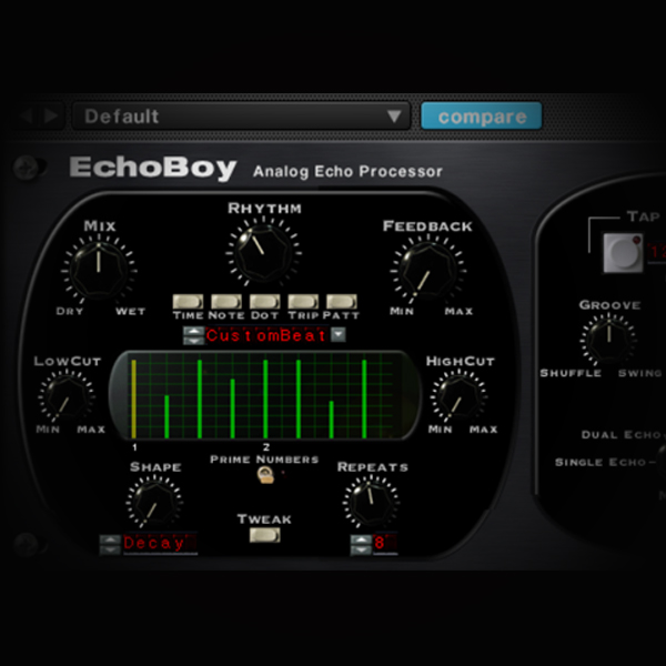 Ducking Effects in Real-time using Vocal Triggers screen shows soundtoys echoboy delay plugin