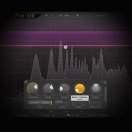 Extending the Dynamic Range of Rap Vocals screen shows fabfilter's pro mb plugin