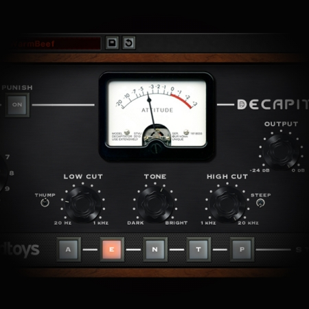 Processing Lead Rock Vocals screen shows soundtoys decapitator plugin