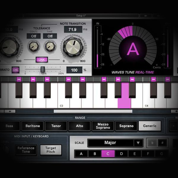 Tuning and Pitching Rock Lead Vocals screen shows the waves real tune plugin