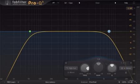 linear phase versus minimum phase screen displaying an eq response