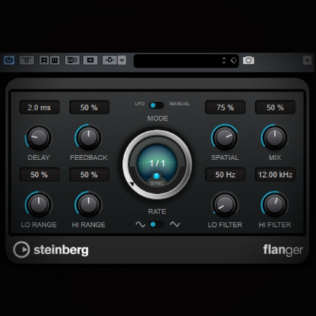 Flanger Effect - what is it and how does it work screen shows the cubase flanger effect plugin