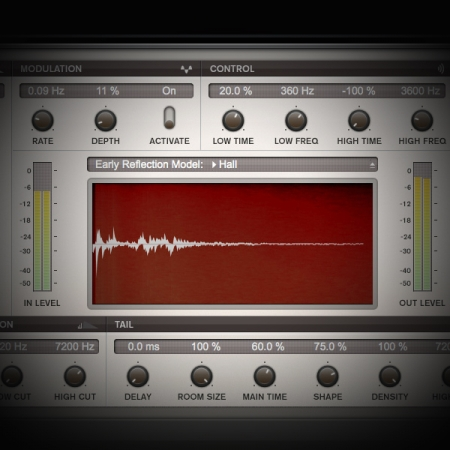 Using Cubase's Stock Reverb Plugins screen displays cubase's stock revelation reverb plugin