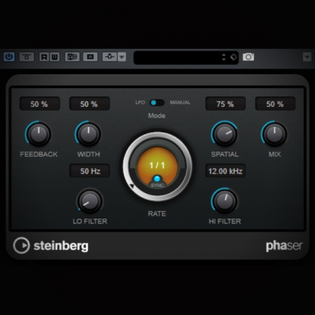 Phaser Effect - what it is and how it works screen showing cubase's phaser plugin