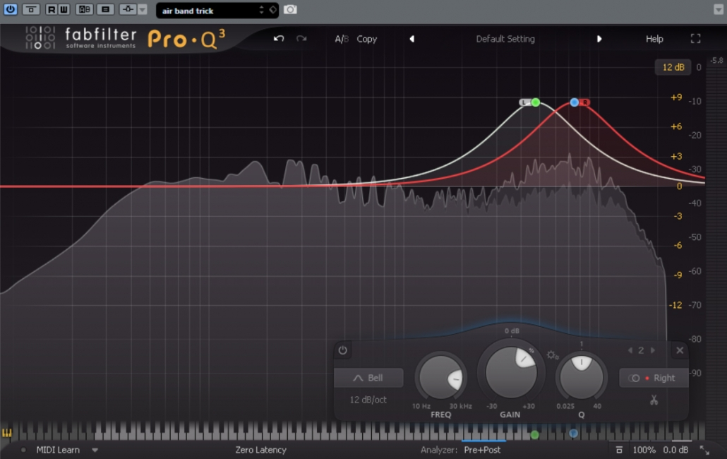 air band trick using fabfilter pro q3